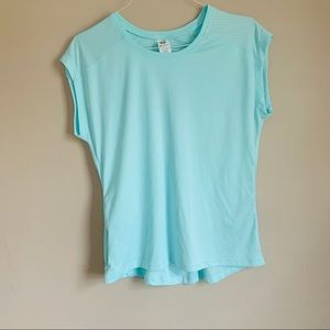 champion size medium blue work out active Top